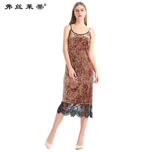 2017 New Boutique Women's Sleeveless Fashion Ladies Were Thin Lace Spring And Summer Dress Dress European Station LSC1210