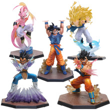 5Styles Dragon Ball Z Figuarts Zero Son Goku Vegeta Kamehameha Super Saiyan 3 Gotenks Majin Buu Spirit Bomb Action Figure Toy