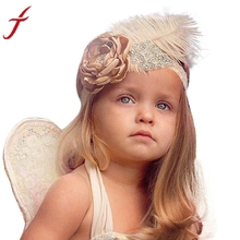 High Quality Fashion Design  Girls Head Accessories Hair band Party Flower Diamond Feather Headwear  Care