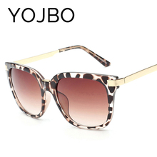 YOJBO Oversized Sunglasses Women Round 2017 Original Fashion Ladies Luxury Vintage Brand Designer Retro Sun Big Woman Glasses(China)