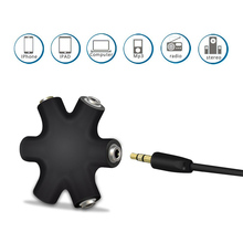 3.5mm Jack Multi Port Earphone Headphone Splitter Audio Cable Adapter Converter Output Share Distributor for phone pc Mp3 mp4(China)