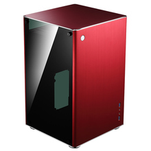 Jonsbo VR1 red computer case  aluminum double side glass through  ITX  Chassis
