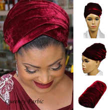 2017Queency Newest African headwrap and scarf, soft African headtie gele, african turban gele, Indian headtie for women . HQT02
