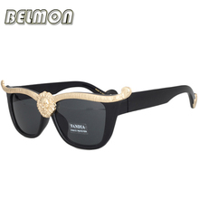 2016 Luxury Sunglasses Women Men Medusa Gold 3D Lion Brand Designer Retro Sun Glasses For Male Vintage Oculos Ladies UV400 RS004(China)