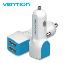 VENTION Mini USB Car Charger Adapter 2.4A Car power inverter 2 Port Dual USB Car Charger For iPhone 6Plus 5s Samsung Galaxy HTC(China)