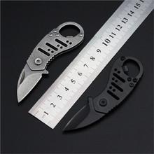 Multi - function craft knife stone wash retro key surfacefolding knife outdoor knife