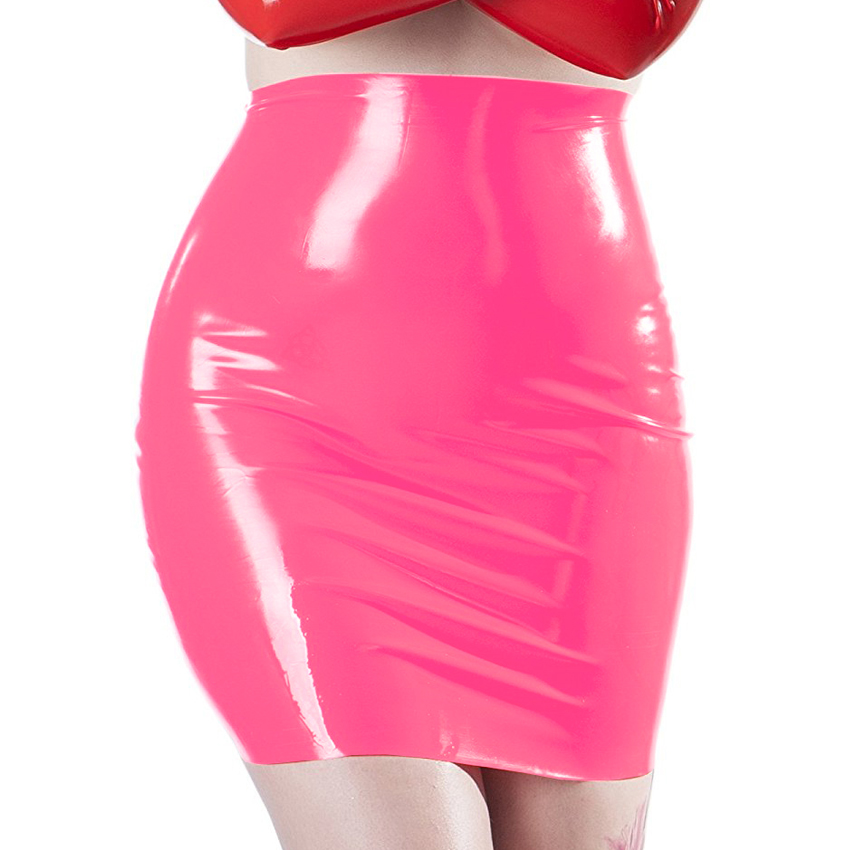 Sexy woman latex skirt 100% natural rubber fetish mini skirts exotic apparel costumes 1