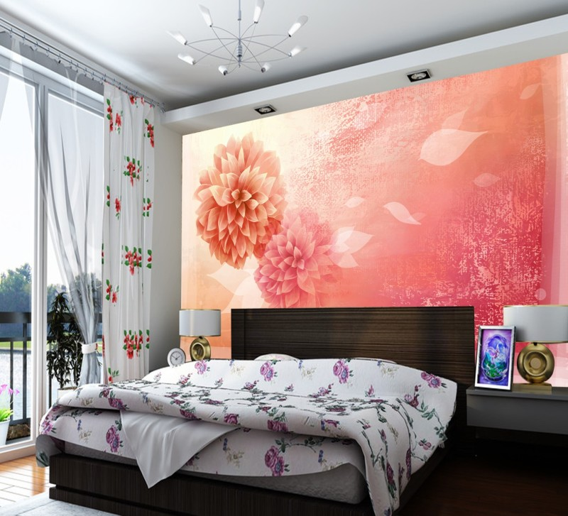 Newest Custom red rose oil painting design 3d wallopaper beautiful floral style useage sofa background 3d wall paper large mural<br><br>Aliexpress