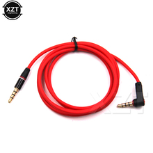 90 Degree 1 Meters Red Audio Cable Line 3.5mm Jack to 3.5mm Jack Male to Male AUX Cable Cord In Car for MP3 MP4 Computer Speaker