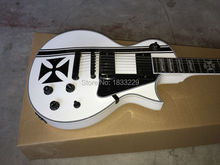 Vicers  High quality Custom  Iron Cross SW James Hetfield Signature Electric Guitar EMG Snow Whit
