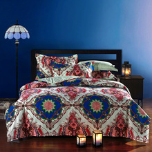 Chinese Style  High Quality100% Cotton Bedding Set 4 Pieces  Bedding Cover King Size Home Bed Decoration