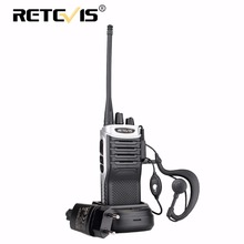1pcs Retevis RT7 Walkie Talkie 5W 16CH UHF Band FM Radio Station Handheld Hf Transceiver Walkie-Talkie Walky Talky Professional