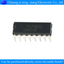 Upright CD4052 multiplexer/demultiplexer DIP-16 4 channels 10PCS/LOT(China)