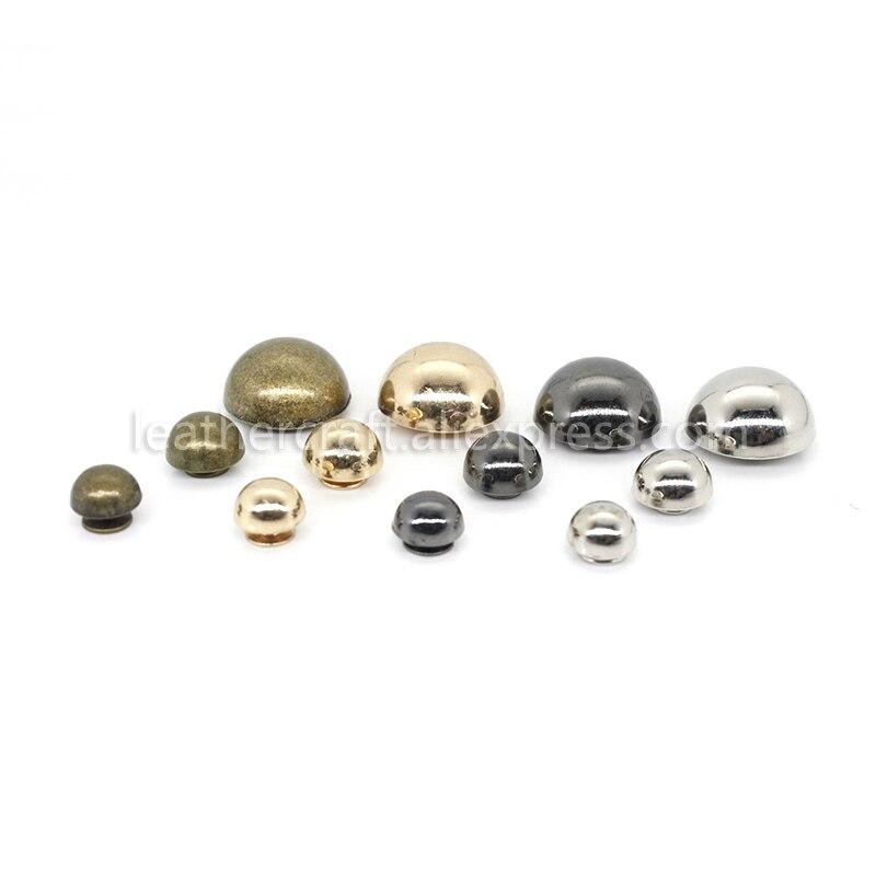 20pcs Rivets Studs Screw Mushroom Rivets Buttons Dome Shape Rivets for Leather Belt Bag Shoes Decoration Craft Supplies Silver
