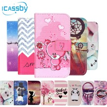 Phone Etui For Coque Samsung Galaxy J1 ACE Case Dog Leather Wallet Flip Cover For Samsung J1 ACE J110 J110F Dual Housing Capinha
