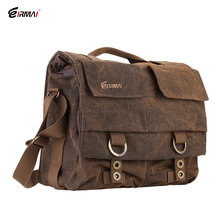 Eirmai SS05(L) Large Size Single Shoulder Bag Handbag Leisure Canvas Camera Messenger Bag Coffee Color