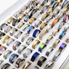 Rings Fashion Jewelry Stainless-Steel Womens Wholesale Party 100pcs/Lots Mix-Style