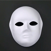 2017 New Women Men Blank Masquerade Mask Cosplay Costume Party DIY Unpainted Mask
