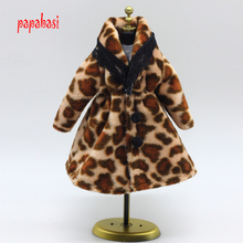 New Plush Coat Winter Wear Dress Snowsuit Clothing Outfit Clothes For 1/6 Toy Barbie Doll coat