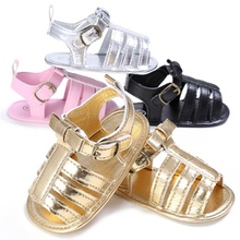 Low Price Baby Girls Boys Fashion Summer Breathable PU Hollow Out Anti-slip Flip Flop Newborn Shoes Sandal 0-18M