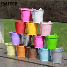 KATE FAVORS 10Pcs Mini Cute Colorful Candy Buckets For Wedding Birthday Party Pails Bag Gift Toys For Kids(China)