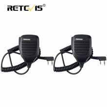 2pcs PTT Speaker Microphone Walkie Talkie MIC Accessories For Kenwood For Baofeng Bf-888S UV-5R Retevis RT5R H777 RT3 RT22 RT7(China)