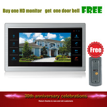 Homefong Buy One Get One Free 7 Inch Video Door Phone Monitor Intercom System/Kit Free Doorbell Camera(Night Vision 600TVL)(China)