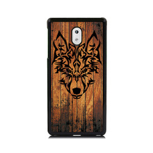 Luxury Cover Case For Nokia 6 Phone Case Wolf Head Wood Colored Art Paint Plastic Hard Cover Coque Fundas Shell for Nokia 3 5