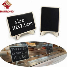 10Pcs/Pack DIY Mini Blackboard Square Wooden Blackboard Wedding Decoration Price Display Stand For Christmas Party Wedding Decor