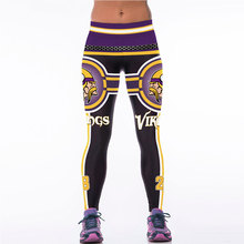 New Sport Leggings For Women 3D Printed Vikings Fitness Leggings Pants Running Tights Women American Football Sports Clothing(China)