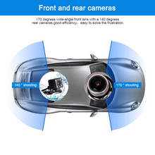 1080 HD 5 Inch Blue Screen Night Vision Dual Lens Visual Reversing Rearview Mirror Car DVR Camera with traffic safety assistant