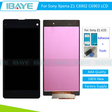 Display For Sony Xperia Z1 lcd L39 L39H C6902 C6903 LCD display Touch Screen Digitizer Assembly Pantalla + Adhesive + Tools