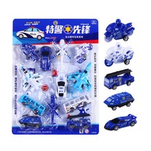 12Pcs/Lot Baby Toys Aircraft Bus Car Motorcycle Car Model Pull Back Toy Model Set Kids Toys for Children Gifts(China)