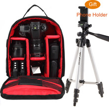 ightpro P1 Waterproof Digital DSLR Photo Padded Backpack w/ Rain Cover Multi-functional SLR Camera Soft Bag Video Case(China)