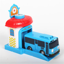 One piece Korean Cute Cartoon garage tayo the little bus toys model mini tayo plastic baby araba oyuncak car for kids brinquedo(China)