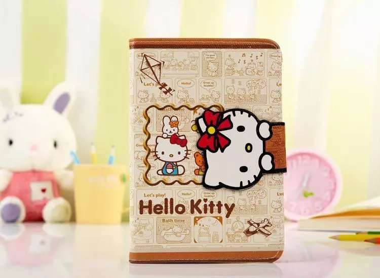 2016 new Case for Apple ipad mini1/2/3 Flip stand cartoon character Japan Anime Hello Kitty Cat print tablet Cover shell coque<br><br>Aliexpress