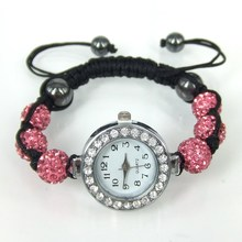 Min. order $9(mix order) New Hot-selling Shamballa Charm Bracelet Bangle Tungsten Steel Watches Bracelet Jewelry