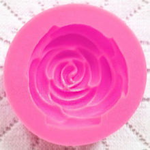 Fondant Silicone Rose Mold 3D Flower Moldes De Silicona Cake Decorating Tools Silicon Molds Paste Americana Color Random