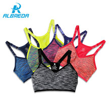 ALBREDA Women Fitness Yoga Sports Bra for Running Gym Straps Padded Top Athletic Vest Quick Dry Sport bra for women 5 colors(China)