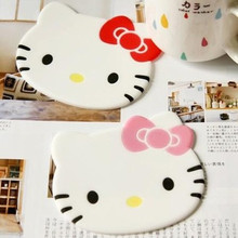 Cartoon Silicone Dining Table Placemat Coaster Kitchen Accessories Mat Cup Bar Mug Hello Kitty Drink Pads