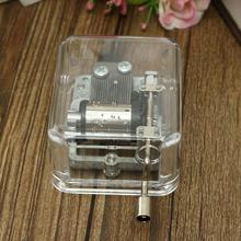 Classic Excellent Fair-sounding Antique Mechanical Music Box Unique Valentine Gift City of Sky/Canon/For Elise(China)