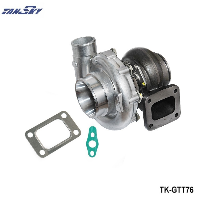 TANSKY - T76 Turbocharger compressor A/R .80 turbine housing A/R.81 Oil 1000hp T4 V-Band Clamp  water cooling TK-GTT76