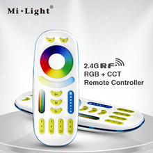 Milight RGBWW RGB+CCT Remote controller 2 in 1 Full touch 4-zone group control for RGB+CCT led bulb series(China)