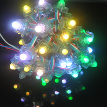 LED Lighting Strings 50pcs Pixel DC 5V Glowing LED luces WS2801 2801 IC RGB Waterproof LED Module Light