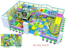 CE certified indoor playground equipment with double slide and big ball pool  CIT-IN1107