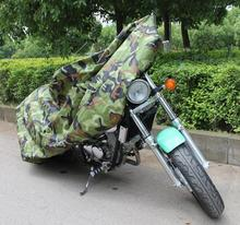 3XL Big Size Jungle Wood Camouflage Motorcycle Cover Waterproof UV Fadeproof Lightweight 180T Free Storage Bag For Moto Bikes(China)