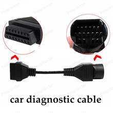 Best Quality Auto Diagnostic cables for Mazda 17 pin cable to 16 Pin OBD2 Service connector car Scanner adapter