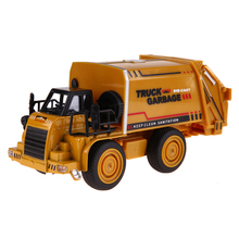 Alloy Car Model Mini Diecasts Material Delicate Pull Back Toy Garbage Truck Watering Transport Vehicle Toys Gift(China)