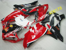 Hot Sales,For yamaha r1 fairings YZFR1 2007 2008 YZF R1 YZF-R1 YZF1000 R1 07 08 Red Black ABS fairings (Injection molding)