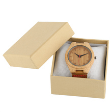 Yellow Display Case Storage High Quality Gift Box Fashion Luxury Foam Pad Pillow Leather Watch Box For Wooden Watch Jewelry